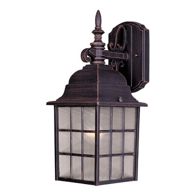 Stalbridge 1-Light Outdoor Wall Lantern Finish: Rust Patina