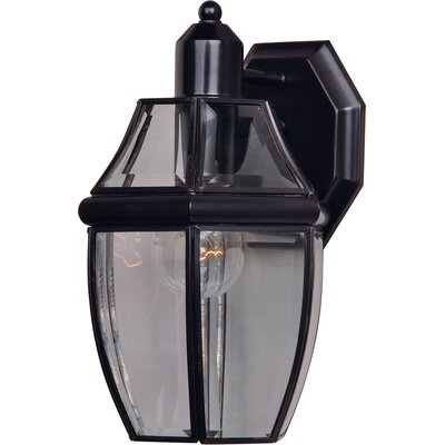 Stroble 1-Light Outdoor Wall Lantern Finish: Burnished