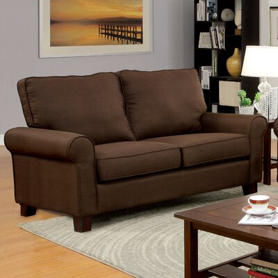 Somerville Modern Loveseat Upholstery: Brown