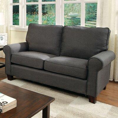Somerville Modern Loveseat Upholstery: Gray