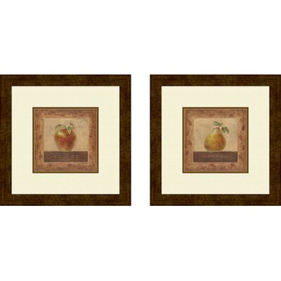 'Elegant Edibles' 2 Piece Framed Graphic Art Set