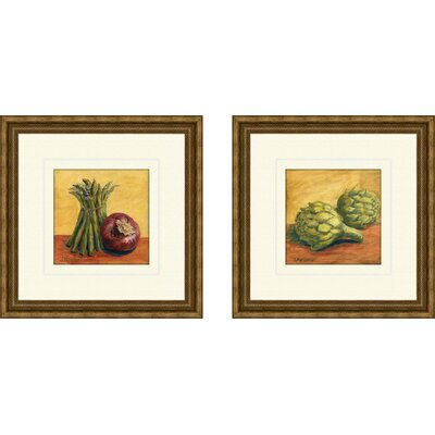 'Vegetables' 2 Piece Framed Painting Print Set