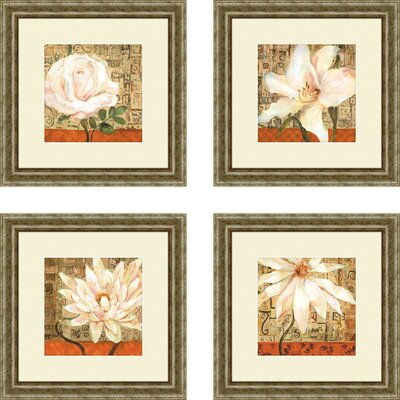 Opulence 4 Piece Framed Graphic Art Set