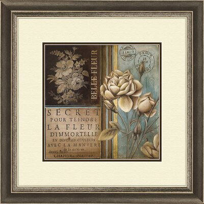 Belle Fleur A Framed Graphic Art