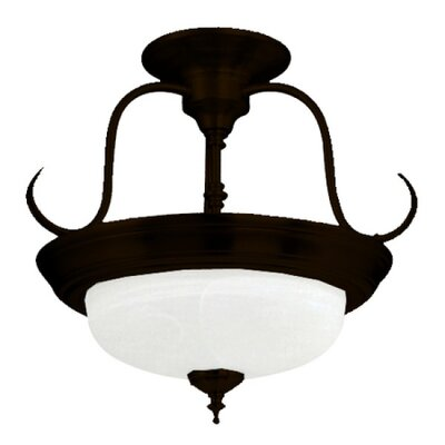 Barnesville 2-Light Semi Flush Mount Finish: Dark Brown