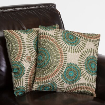 Hamden Floral Circles Throw Pillow