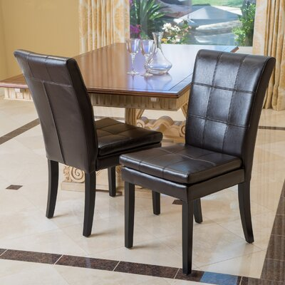Bairdstown Genuine Leather Upholstered Dining Chair
