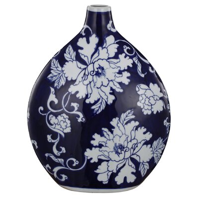 Navy Blue Ceramic Vase
