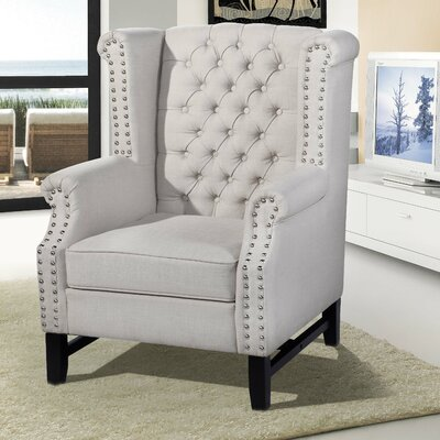 Babylon Wingback Chair Upholstery: Taupe