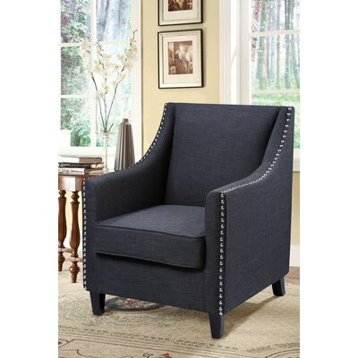 Bachar Armchair Color: Charcoal