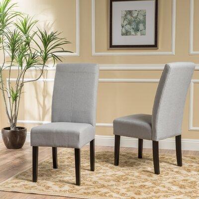 Back East Side Chair Upholstery: Light Gray