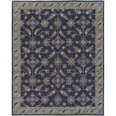 Langport Hand-Tufted Slate/Moss Area Rug Rug Size: 8 x 10