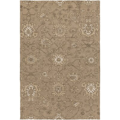 Langport Hand-Tufted Brown Area Rug Rug Size: 6 x 9