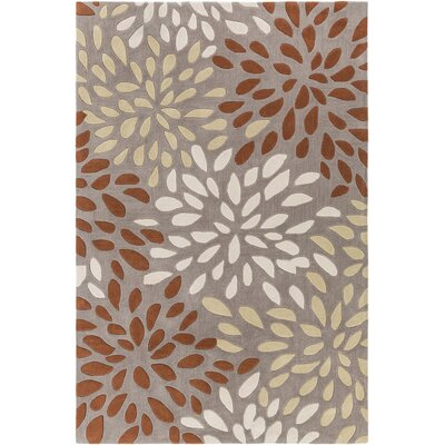 Carrie Hand-Tufted Rust/Lime Area Rug Rug Size: 5 x 8