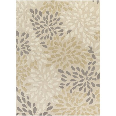 Carrie Hand-Tufted Ivory Area Rug Rug Size: Rectangle 8 x 11
