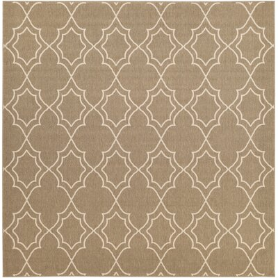 Amato Beige Indoor/Outdoor Area Rug Rug Size: 89 x 89