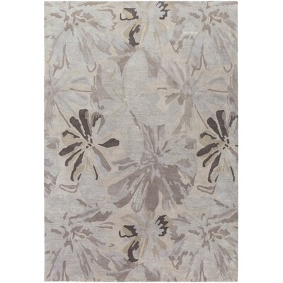Amice Beige/Gray Area Rug Rug Size: Rectangle 76 x 96