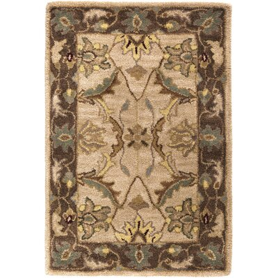 Florence Hand-Woven Brown Area Rug Rug Size: Rectangle 33 x 53