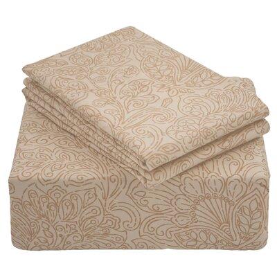 Gurney Printed 4 Piece 300 Thread Count 100% Cotton Sheet Set