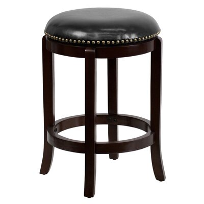 Hadenson 25 Swivel Bar Stool with Cushion Finish: Cappuccino