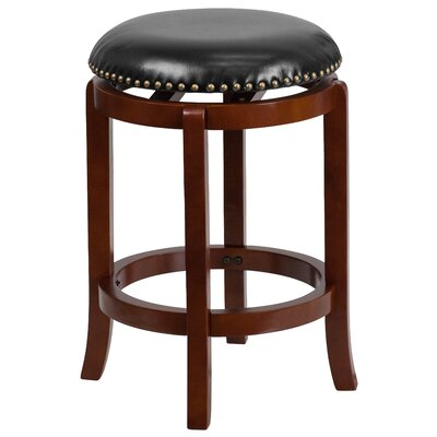 Hadenson 25 Swivel Bar Stool with Cushion Finish: Light Cherry