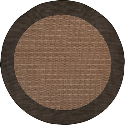 Owen Checkered Field Cocoa/Black Area Rug Rug Size: 8'6