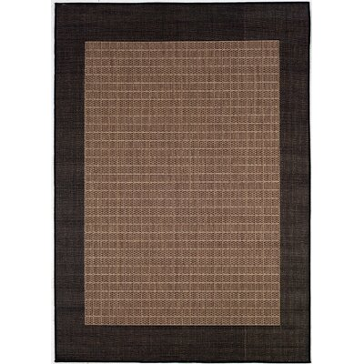 Owen Checkered Field Cocoa/Black Indoor/Outdoor Area Rug