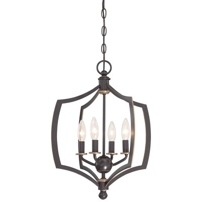 Stotts 4-Light Foyer Pendant