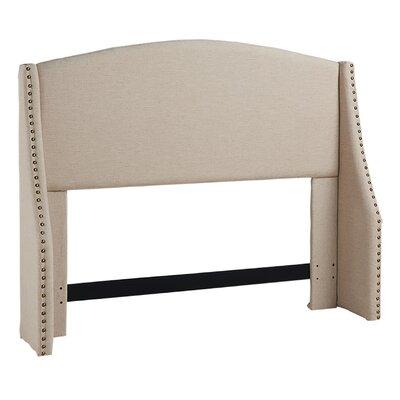 Drumagorgan Upholstered Wingback Headboard Size: Full/Queen, Upholstery: Khaki Linen