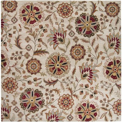 Amice Hand-Tufted Area Rug Rug size: Square 4'