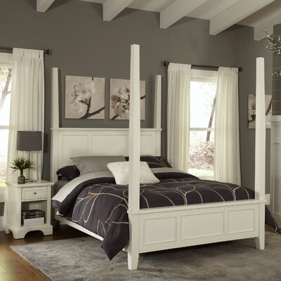 Lafferty Four Poster 2 Piece Bedroom Set Size: King