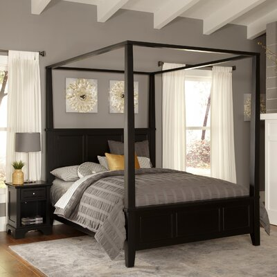 Marblewood Canopy 2 Piece Bedroom Set Size: King