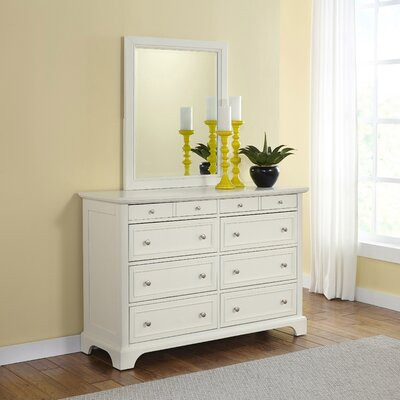 Lafferty 8 Drawer Dresser with Mirror