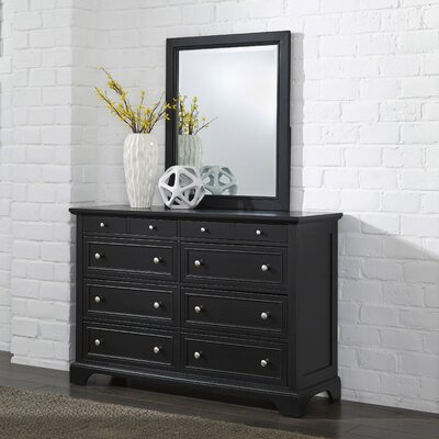 Marblewood 8 Drawer Dresser with Mirror