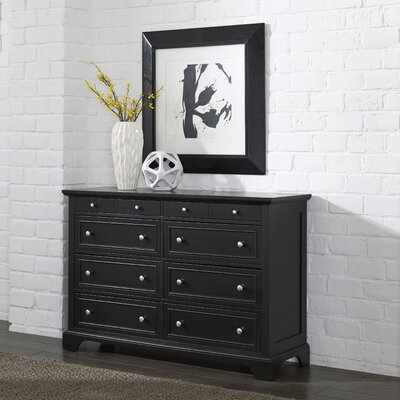 Marblewood 8 Drawer Double Dresser