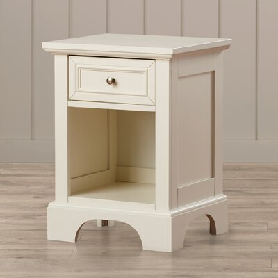 Marblewood 1 Drawer Nightstand Finish: Off-White
