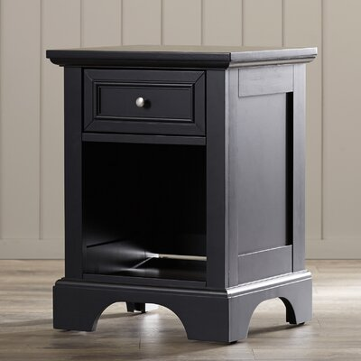 Marblewood 1 Drawer Nightstand Finish: Ebony