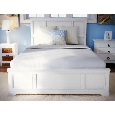 Marblewood Queen Panel Bed Finish: Off-White