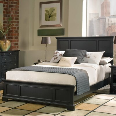 Marblewood Queen Panel Bed Finish: Ebony