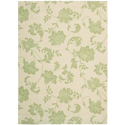 Sigel Light Green/Ivory Indoor/Outdoor Area Rug Rug Size: 53 x 75