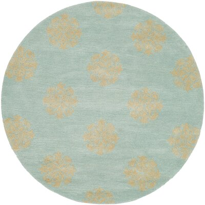 Backstrom Hand-Tufted Turquoise Area Rug Rug Size: Rectangle 36 x 56