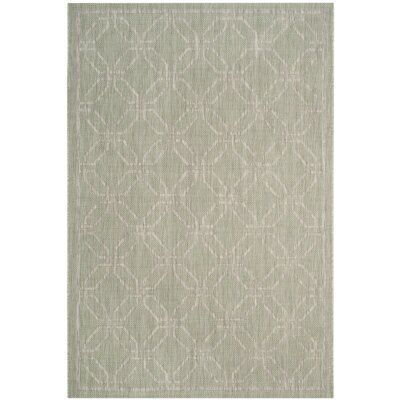 Bexton Green/Gray Area Rug Rug Size: Rectangle 53 x 77