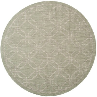 Bexton Green/Gray Area Rug Rug Size: Round 67
