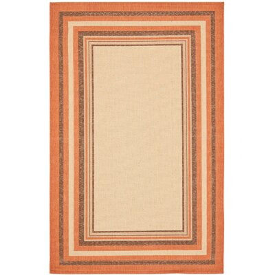 Bexton Cream/Terracotta Indoor/Outdoor Area Rug