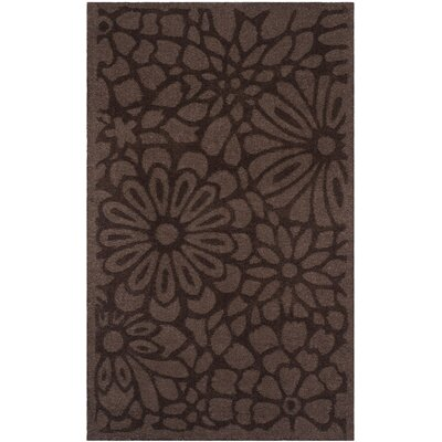Full Bloom Hand-Loomed Tilled Soil Area Rug Rug Size: Round 4