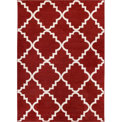 Lewis Lattice Teracotta Area Rug