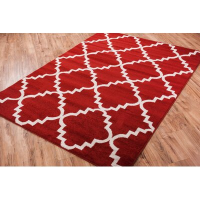 Lewis Lattice Teracotta Area Rug Rug Size: Round 53