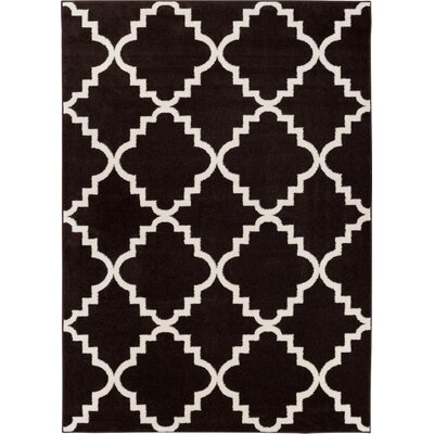 Lewis Lattice Black Area Rug Rug Size: 710 x 106