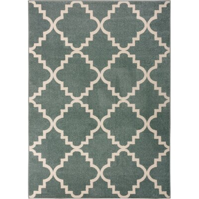 Lewis Lattice Light Blue Area Rug