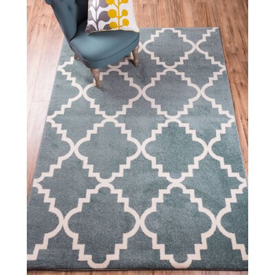 Lewis Lattice Light Blue Area Rug Rug Size: Rectangle 53 x 73